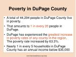 poverty in dupage county