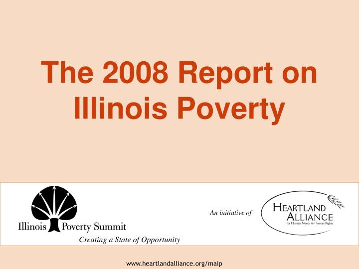 the 2008 report on illinois poverty n.