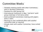 committee weeks