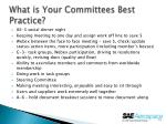 what is your committees best practice