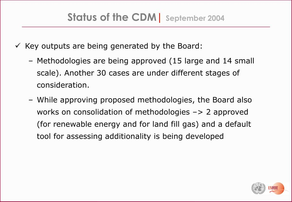 Status of the CDM