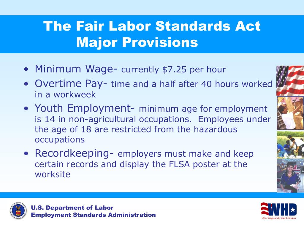 the fair labor standards act major provisions l.