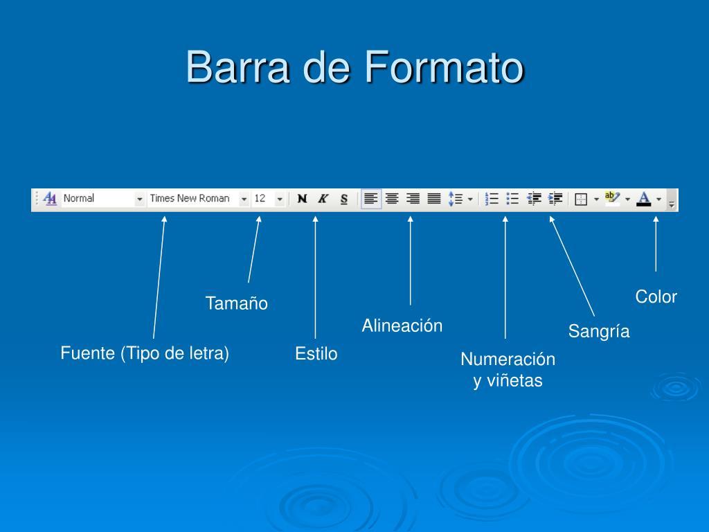 Barra de Formato