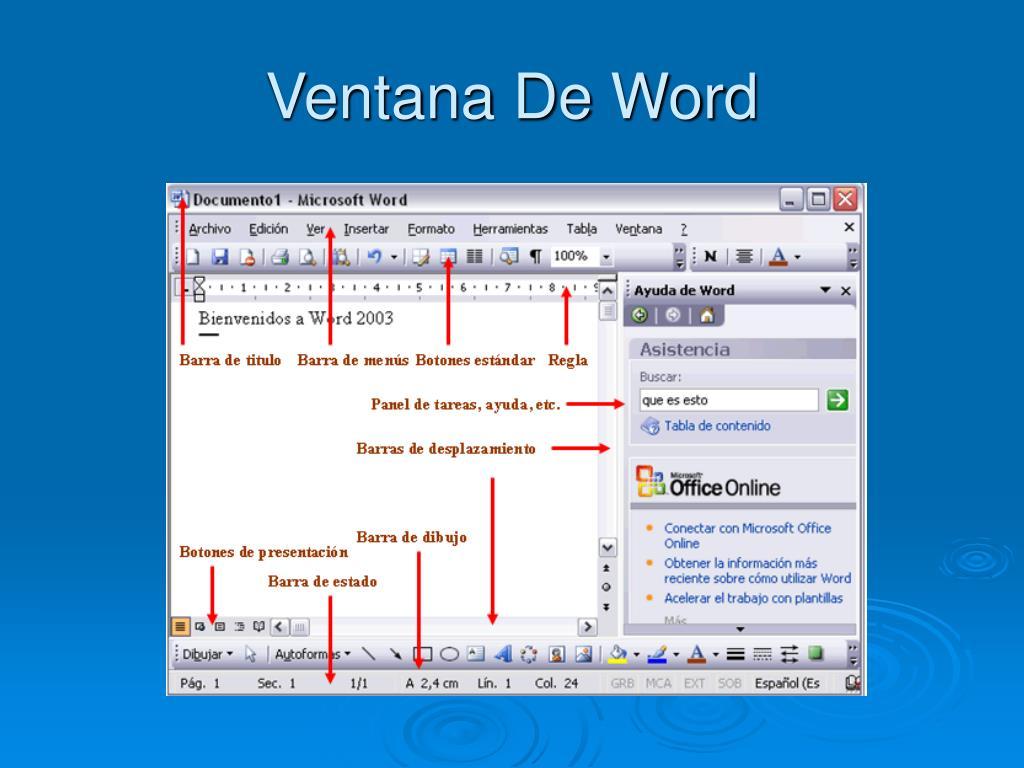 Ventana De Word