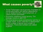 what causes poverty