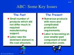 abc some key issues