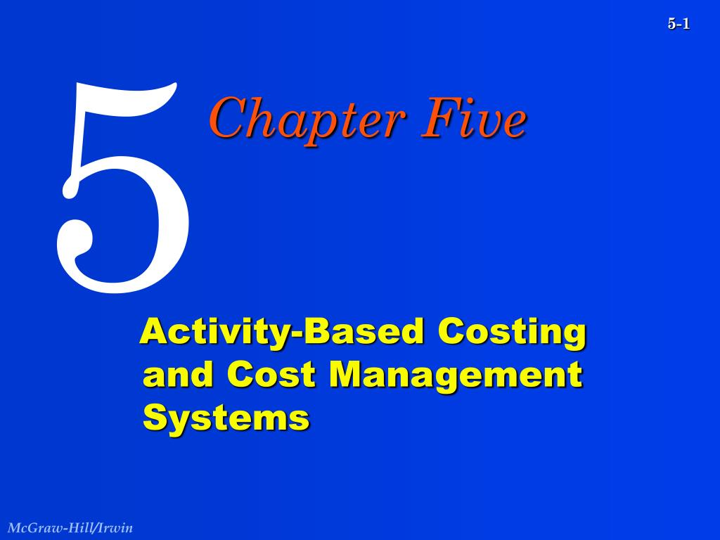 activity based costing and cost management systems l.