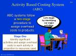 activity based costing system abc8