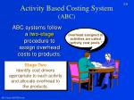 activity based costing system abc9