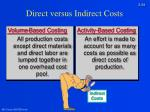 direct versus indirect costs