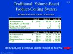 traditional volume based product costing system3