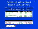 traditional volume based product costing system5