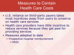 measures to contain health care costs