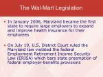 the wal mart legislation