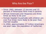 who are the poor