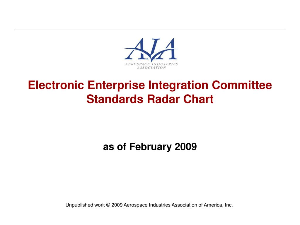 electronic enterprise integration committee standards radar chart l.