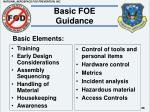 basic foe guidance26