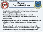 design considerations48