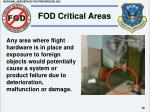 fod critical areas