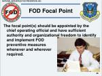fod focal point
