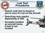 lost tool procedures