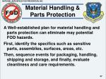 material handling parts protection