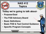 nas 412 topics