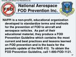 national aerospace fod prevention inc
