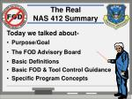 the real nas 412 summary