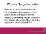 why we like guided sales