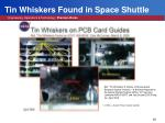 tin whiskers found in space shuttle