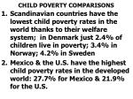 child poverty comparisons