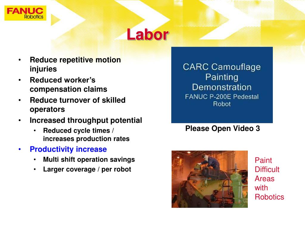 PPT - FANUC Robotics Toledo Defense and Aerospace Robotic Painting