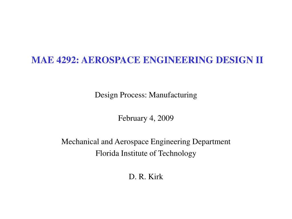 mae 4292 aerospace engineering design ii l.
