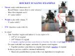 rocket scaling example