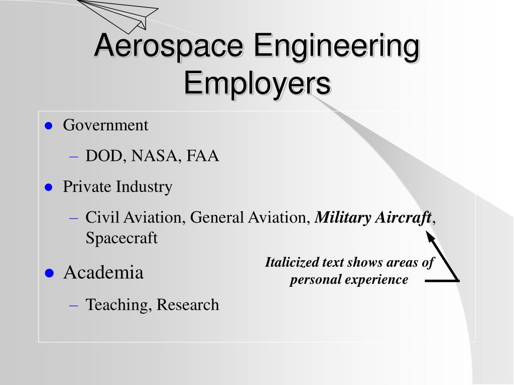 Aerospace Engineering Employers
