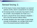 aerosol forcing 2