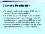 climate prediction