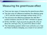 measuring the greenhouse effect