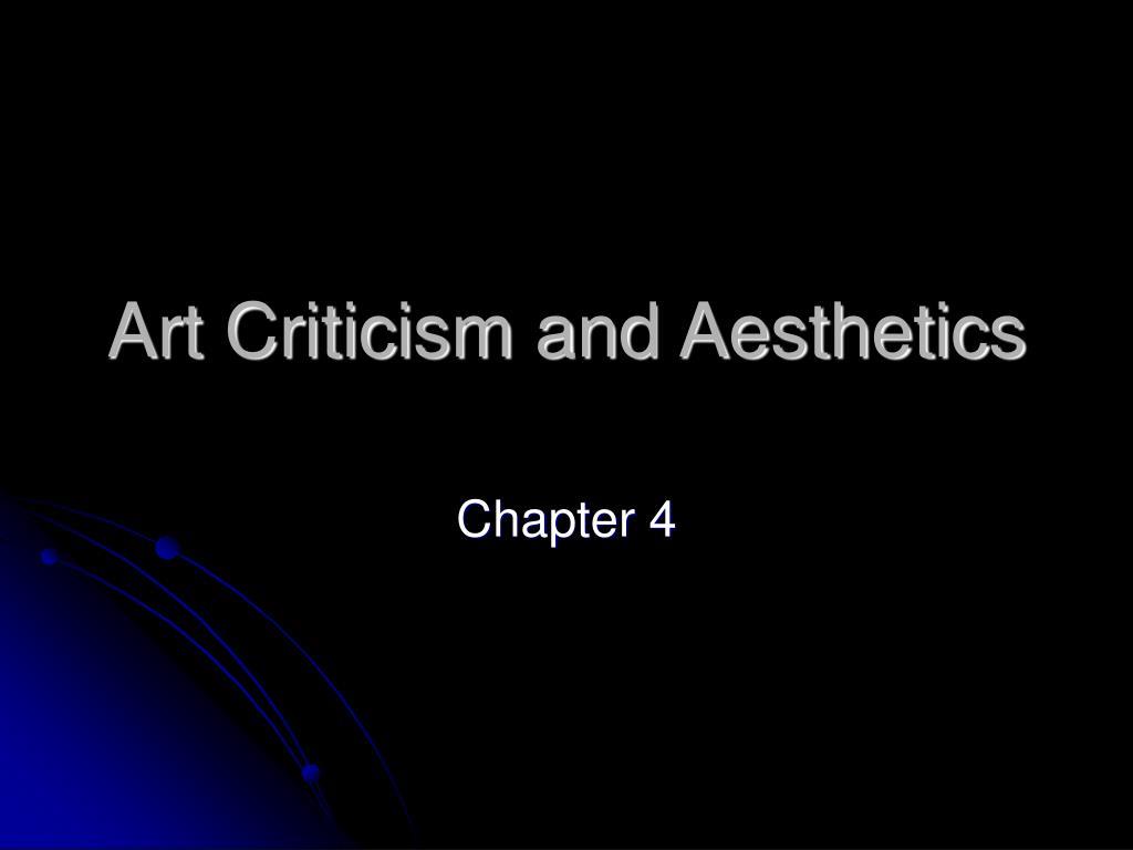art criticism and aesthetics l.