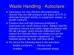 waste handling autoclave