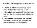aesthetic perception response