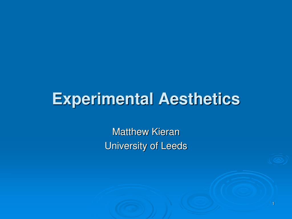 experimental aesthetics l.