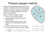 thiessen polygon method