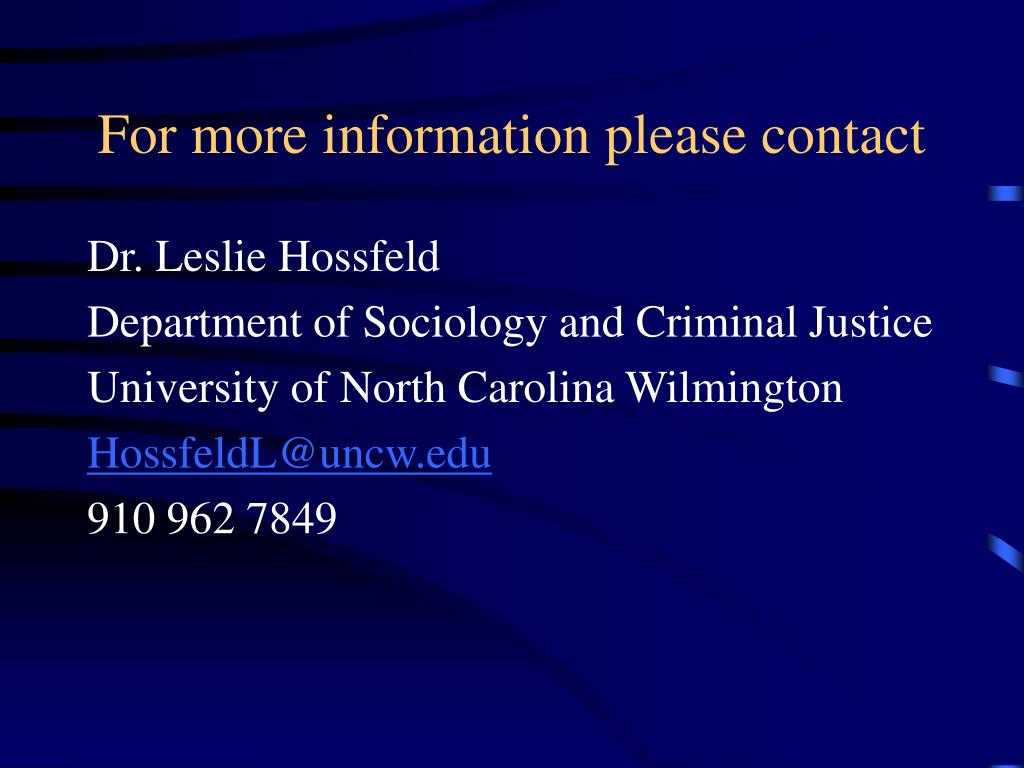 For more information please contact