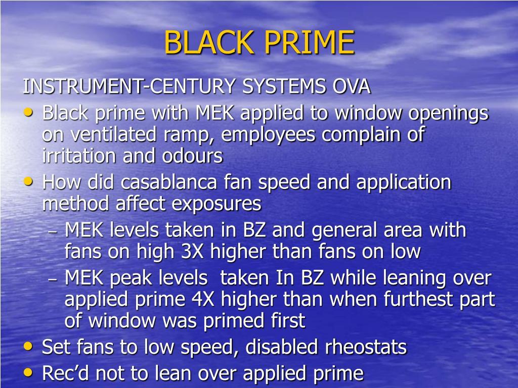 BLACK PRIME