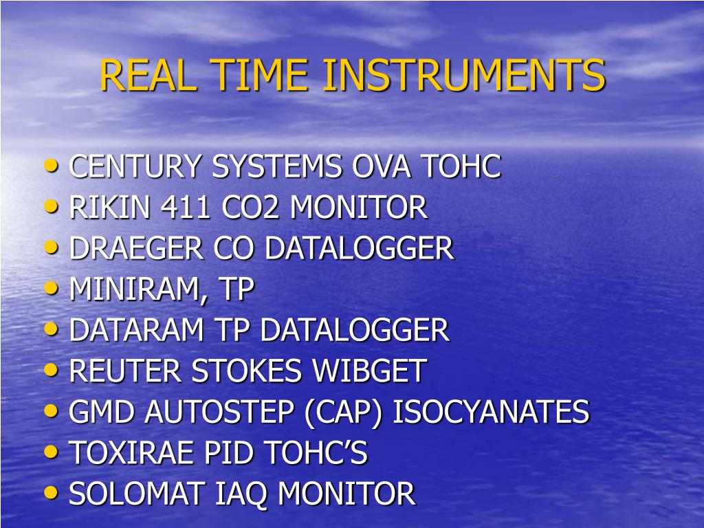 REAL TIME INSTRUMENTS