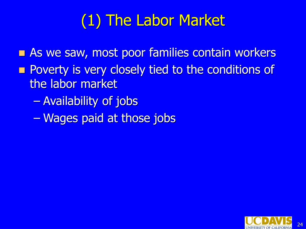 (1) The Labor Market