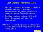 cash welfare programs tanf