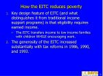 how the eitc reduces poverty